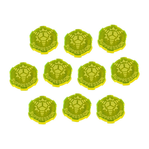 Suppression Tokens Compatible with SW: Legion, Fluorescent Yellow (10) - LITKO Game Accessories