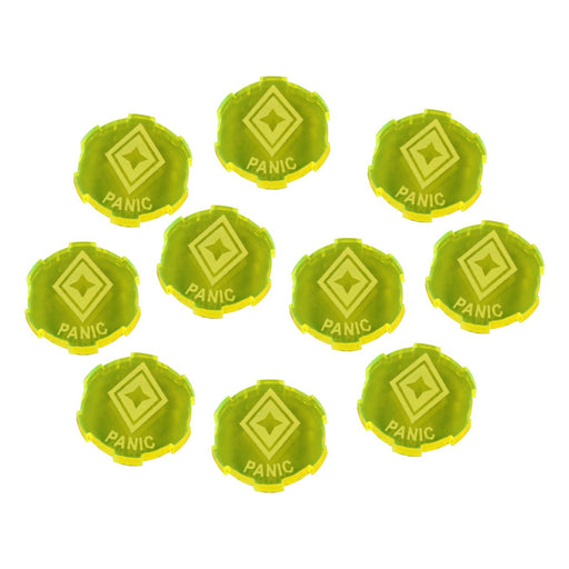 LITKO Panic Tokens Compatible with SW: Legion, Fluorescent Yellow (10) - LITKO Game Accessories