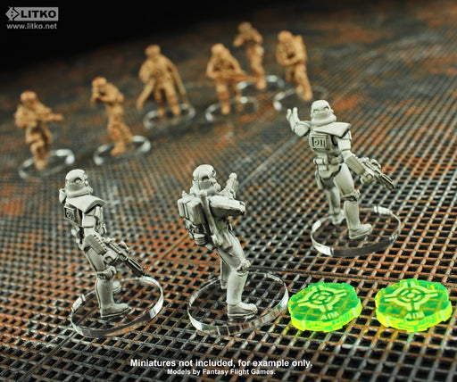 Aim Tokens, Compatible with SW: Legion, Fluorescent Green (10) - LITKO Game Accessories