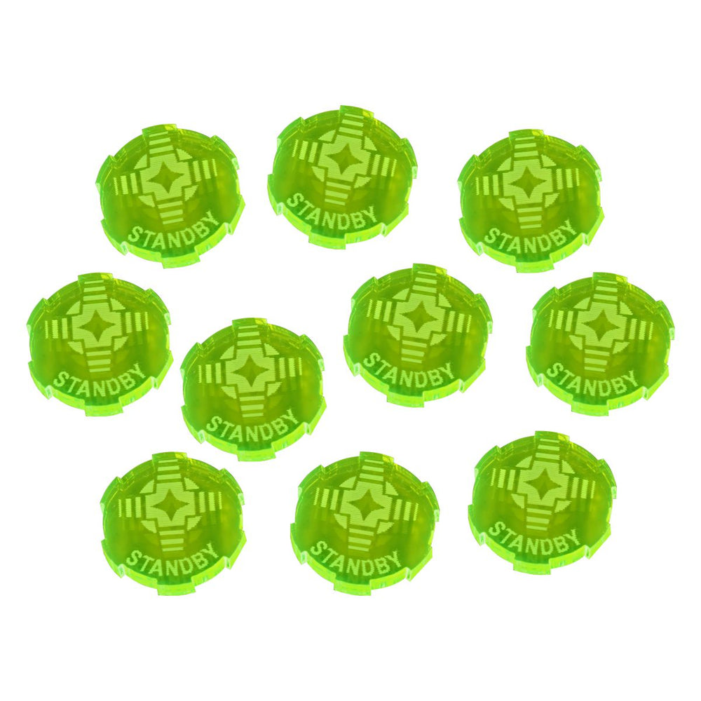 Standby Tokens Compatible with SW: Legion, Fluorescent Green (10) - LITKO Game Accessories