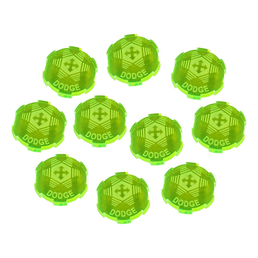 Dodge Tokens Compatible with SW: Legion, Fluorescent Green (10) - LITKO Game Accessories