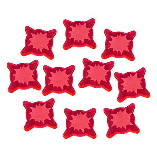 1-Wound Tokens Compatible with SW: Legion, Fluorescent Pink (10) - LITKO Game Accessories