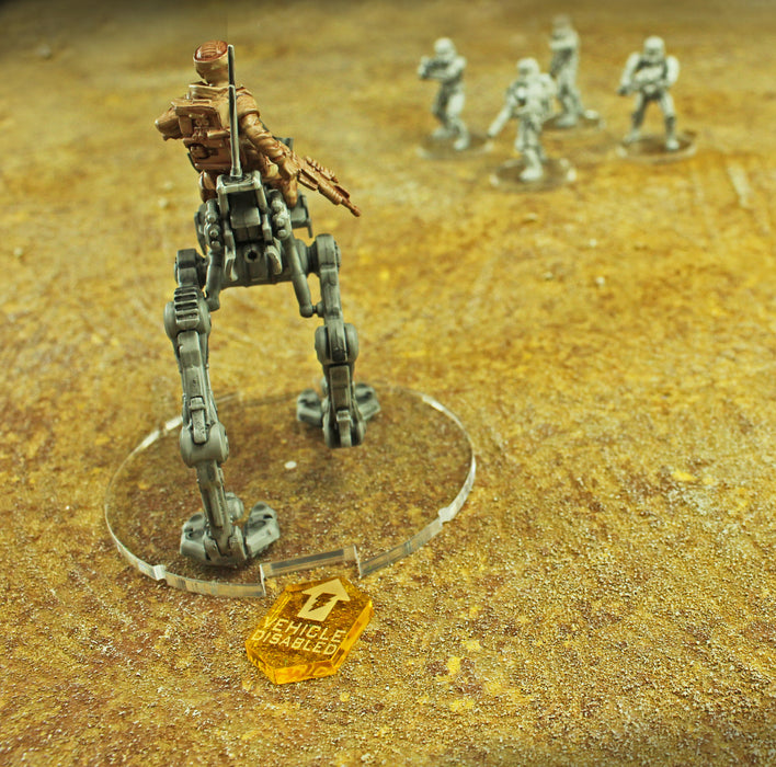 Vehicle Disabled Tokens Compatible with SW: Legion, Transparent Yellow (10) - LITKO Game Accessories