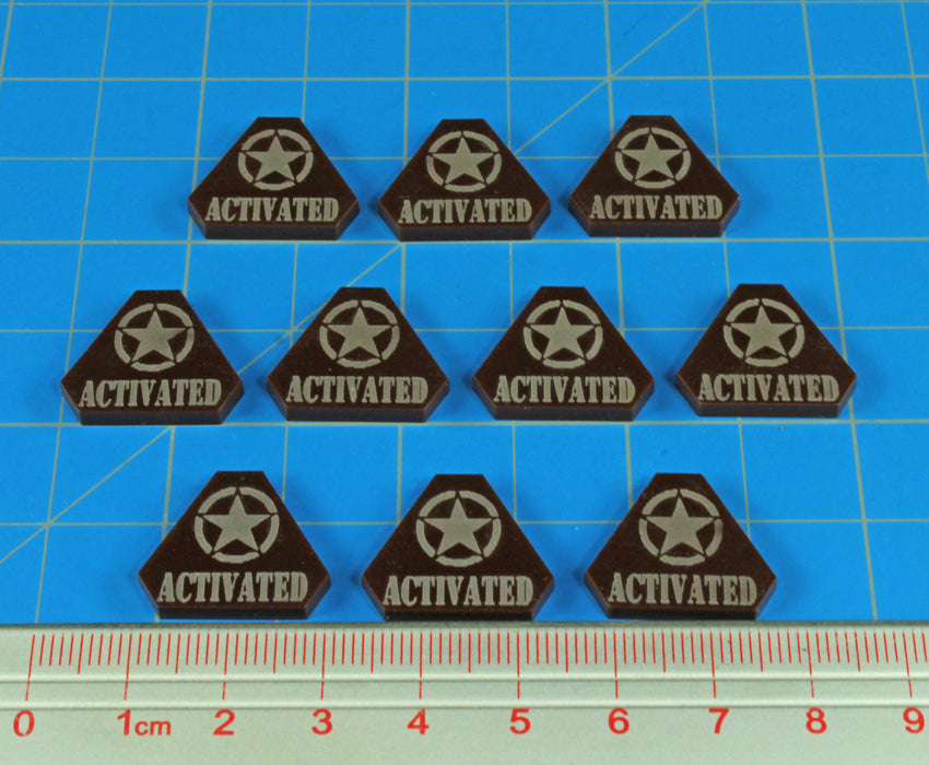 WWII American, Activated Tokens, Brown (10) - LITKO Game Accessories