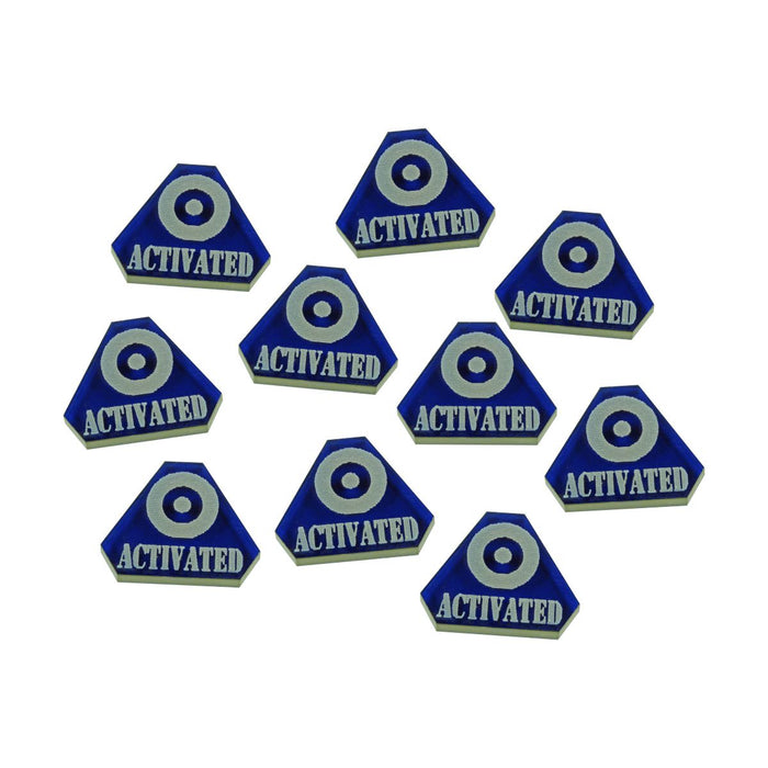 LITKO WWII British Activated Tokens, Translucent Blue (10) - LITKO Game Accessories