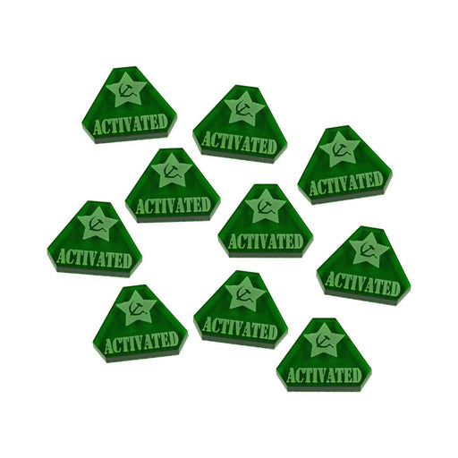 WWII Russian, Activated Tokens, Translucent Green  (10) - LITKO Game Accessories