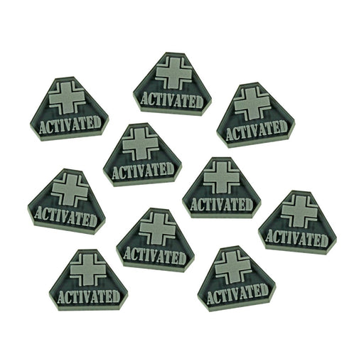 LITKO WWII German Activated Tokens, Translucent Grey (10) - LITKO Game Accessories