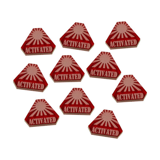 LITKO WWII Japanese Activated Tokens, Translucent Red (10) - LITKO Game Accessories