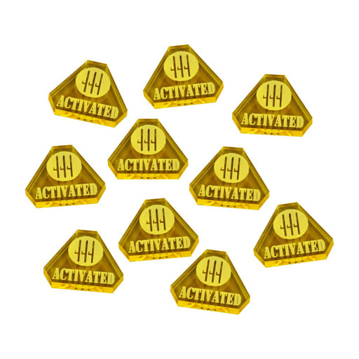 WWII Italian, Activated Tokens, Transparent Yellow (10) - LITKO Game Accessories