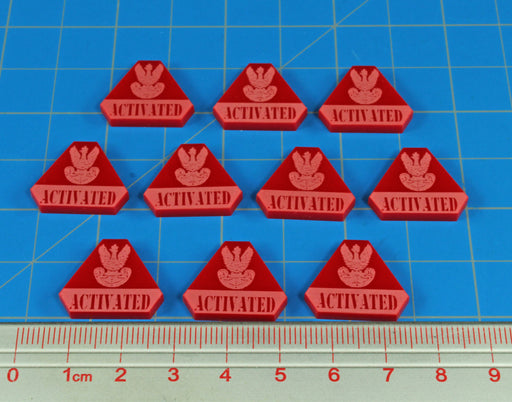 LITKO WWII Polish Activated Tokens, Red (10) - LITKO Game Accessories