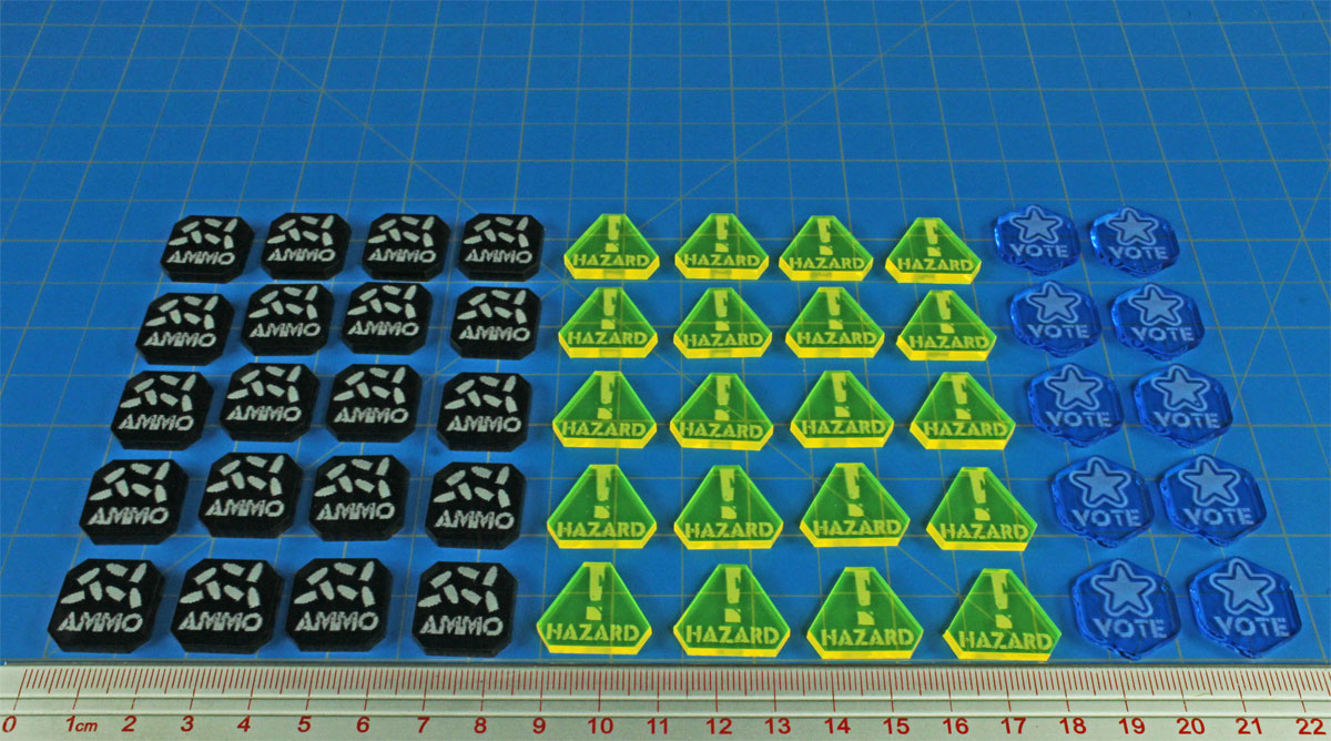 Gaslands Miniatures Game Token Set, Multi-Colored (50) - LITKO Game Accessories
