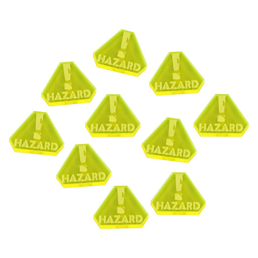 Gaslands Miniatures Game Hazard Tokens, Fluorescent Yellow (10) - LITKO Game Accessories