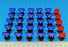 LITKO Combat Mega-Marker Set Compatible with WH:KT, Translucent Blue & Red (30) - LITKO Game Accessories