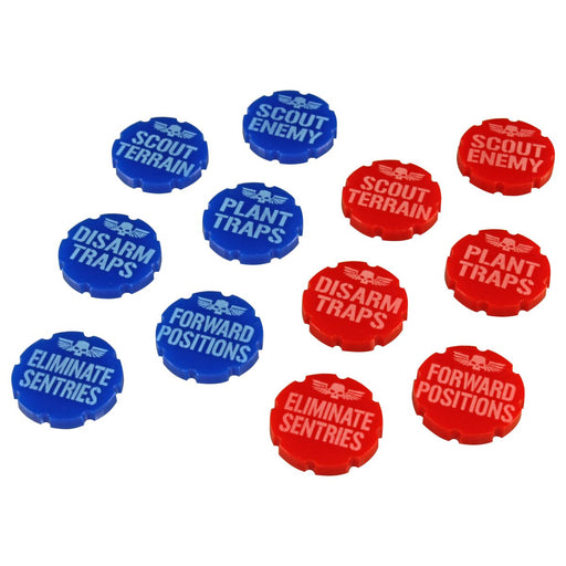 LITKO Scout Phase Token Set compatible with WH:KT, Red & Blue (12) - LITKO Game Accessories