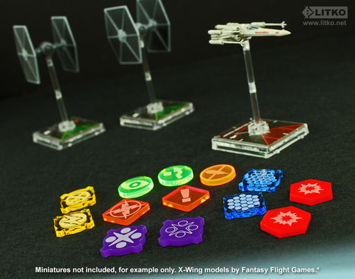 LITKO Space Fighter 2nd Edition Game Token Upgrade Set, Multi-Color (31) - LITKO Game Accessories