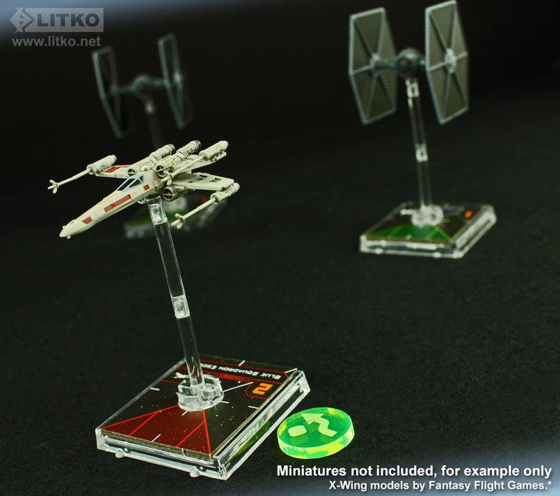 LITKO Space Fighter 2nd Edition Evade Tokens, Fluorescent Green (10) - LITKO Game Accessories