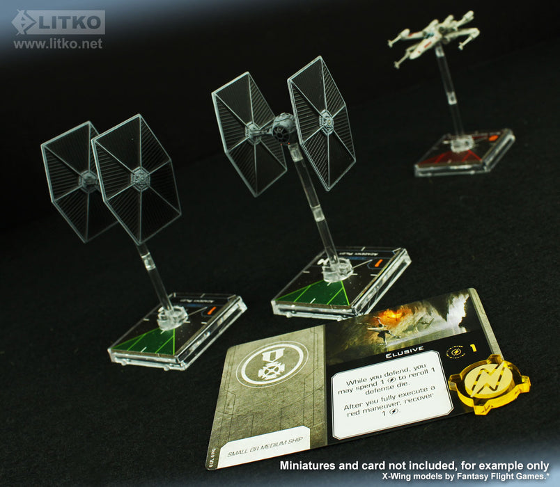 LITKO Space Fighter 2nd Edition Double-Sided Charge Tokens, Transparent Yellow (10) - LITKO Game Accessories