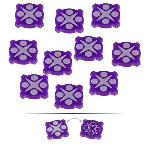 LITKO Space Fighter 2nd Edition Double-Sided Force Tokens, Purple (10) - LITKO Game Accessories