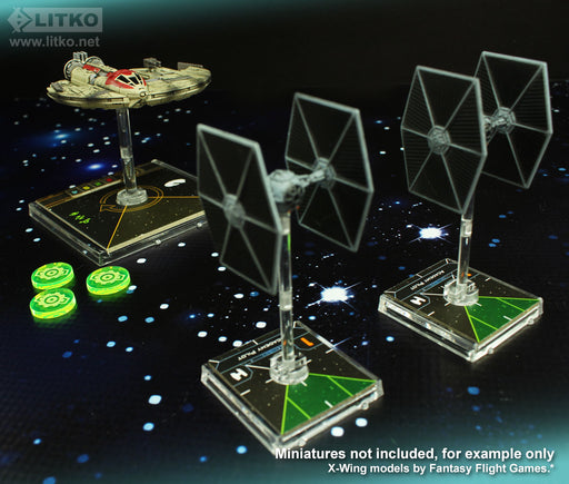 LITKO Space Fighter 2nd Edition Calculate Tokens, Fluorescent Green (10) - LITKO Game Accessories