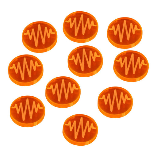 LITKO Space Fighter 2nd Edition Jammed Tokens, Fluorescent Orange (10) - LITKO Game Accessories