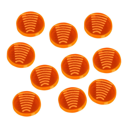 LITKO Space Fighter 2nd Edition Tractor Tokens, Fluorescent Orange (10) - LITKO Game Accessories