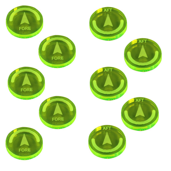 LITKO Space Fighter 2nd Edition Reinforce Tokens, Fluorescent Green (10) - LITKO Game Accessories