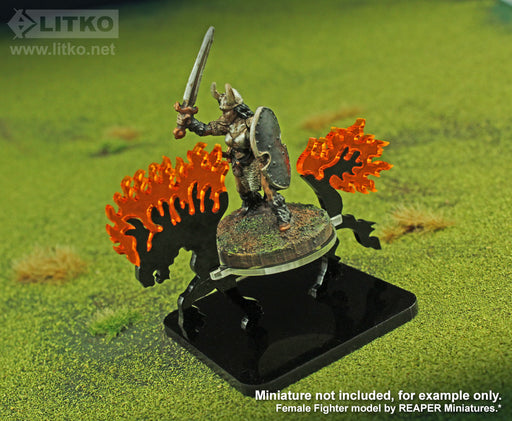 LITKO Nightmare Steed Character Mount with 2-inch Base - LITKO Game Accessories
