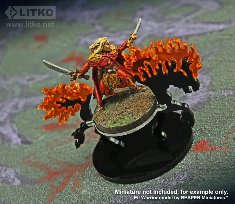 LITKO Nightmare Steed Character Mount with 50mm Circular Base - LITKO Game Accessories