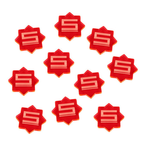 LITKO 5-Damage Tokens Compatible with Forged Key Card Game, Fluorescent Pink (10) - LITKO Game Accessories