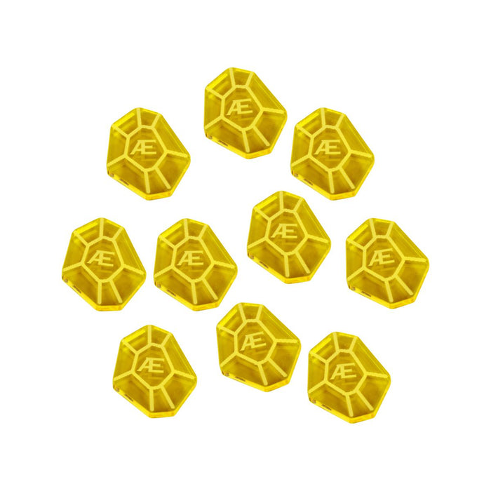 LITKO AEmber Tokens Compatible with Forged Key Card Game, Transparent Yellow (10) - LITKO Game Accessories