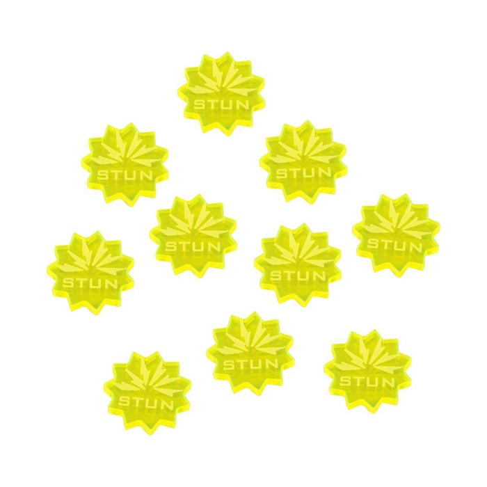 LITKO Stun Tokens Compatible with Forged Key Card Game, Fluorescent Yellow (10) - LITKO Game Accessories