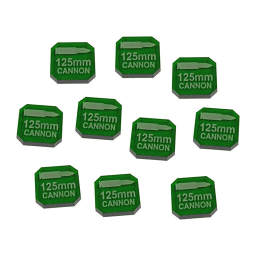 Gaslands Miniatures Game 125mm Cannon Ammo Tokens, Translucent Green (10) - LITKO Game Accessories