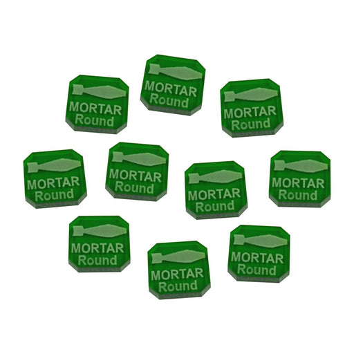 Gaslands Miniatures Game Mortar Round Ammo Tokens, Translucent Green (10) - LITKO Game Accessories