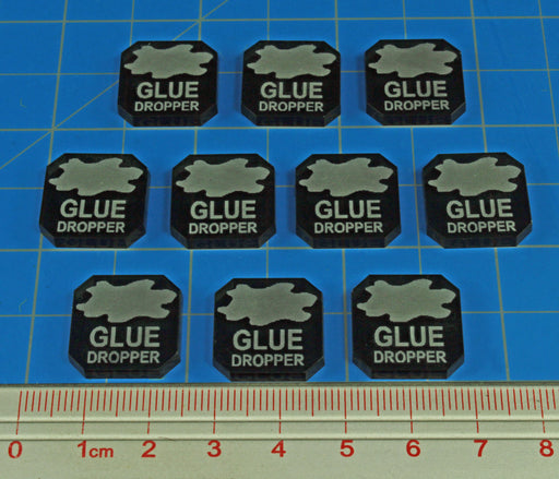 Gaslands Miniatures Game Glue Dropper Ammo Tokens, Translucent Grey (10) - LITKO Game Accessories