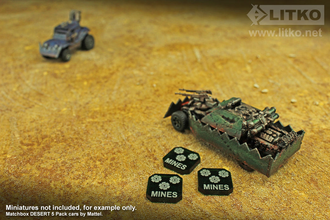 Gaslands Miniatures Game Mines Ammo Tokens, Translucent Green (10) - LITKO Game Accessories
