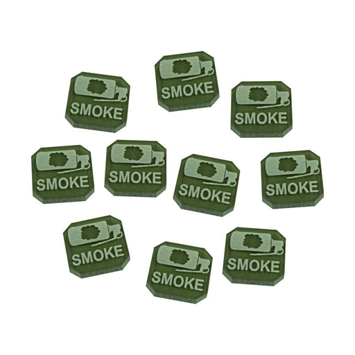Gaslands Miniatures Game Smoke Ammo Tokens, Translucent Grey (10) - LITKO Game Accessories