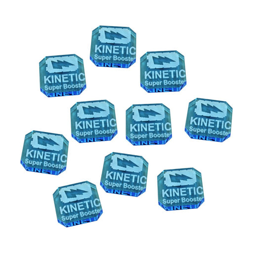 Gaslands Miniatures Game Kinetic Super Booster Ammo Tokens, Fluorescent Blue (10) - LITKO Game Accessories