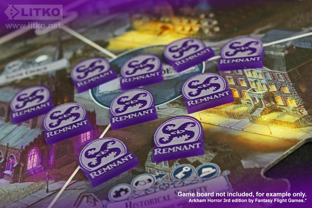 LITKO Remnant Tokens Compatible with Arkham 3rd Edition, Purple (10) - LITKO Game Accessories