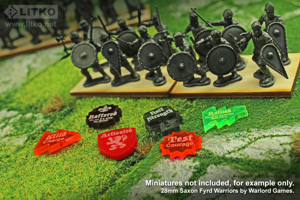 LITKO Game Upgrade Set Compatible with Lion Rampant, Multi-color (50) - LITKO Game Accessories