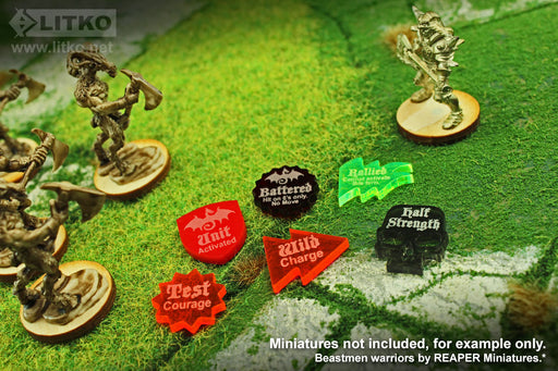 LITKO Game Upgrade Set Compatible with Dragon Rampant, Multi-color (50) - LITKO Game Accessories