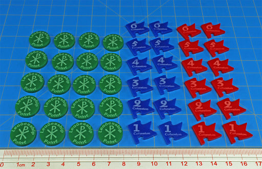 LITKO Token Set Compatible with Dux Bellorum, Multi-color (44) - LITKO Game Accessories
