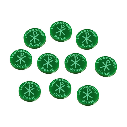 LITKO Leadership Point Tokens Compatible with Dux Bellorum, Green (10) - LITKO Game Accessories