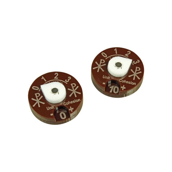 LITKO Unit Dials Compatible with Dux Bellorum, Brown & White (2) - LITKO Game Accessories