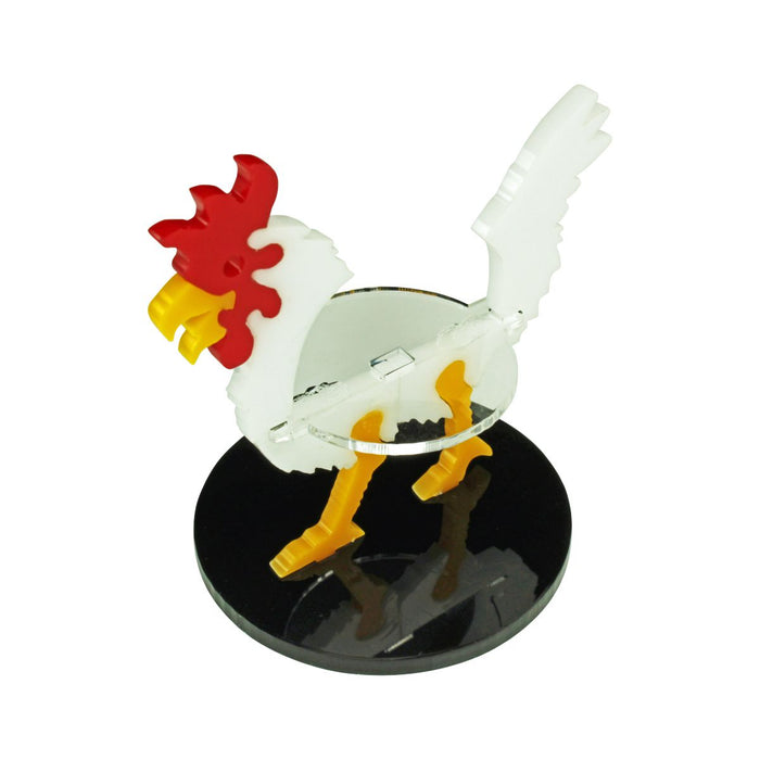 LITKO Giant Chicken Character Mount with 50mm Circular Base, White - LITKO Game Accessories