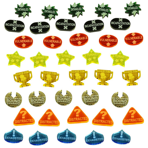 LITKO Adventure Token Set compatible with the Savage Worlds Game System, Multi-Color (40) - LITKO Game Accessories