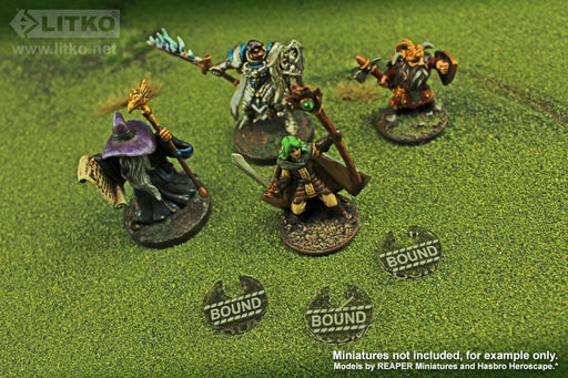 LITKO Bound Tokens compatible with the Savage Worlds Game System, Transparent Bronze (10) - LITKO Game Accessories