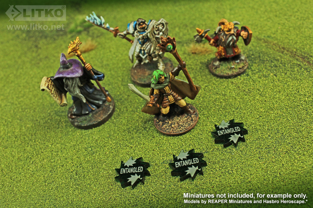 LITKO Entangled Tokens compatible with the Savage Worlds Game System, Translucent Green (10) - LITKO Game Accessories