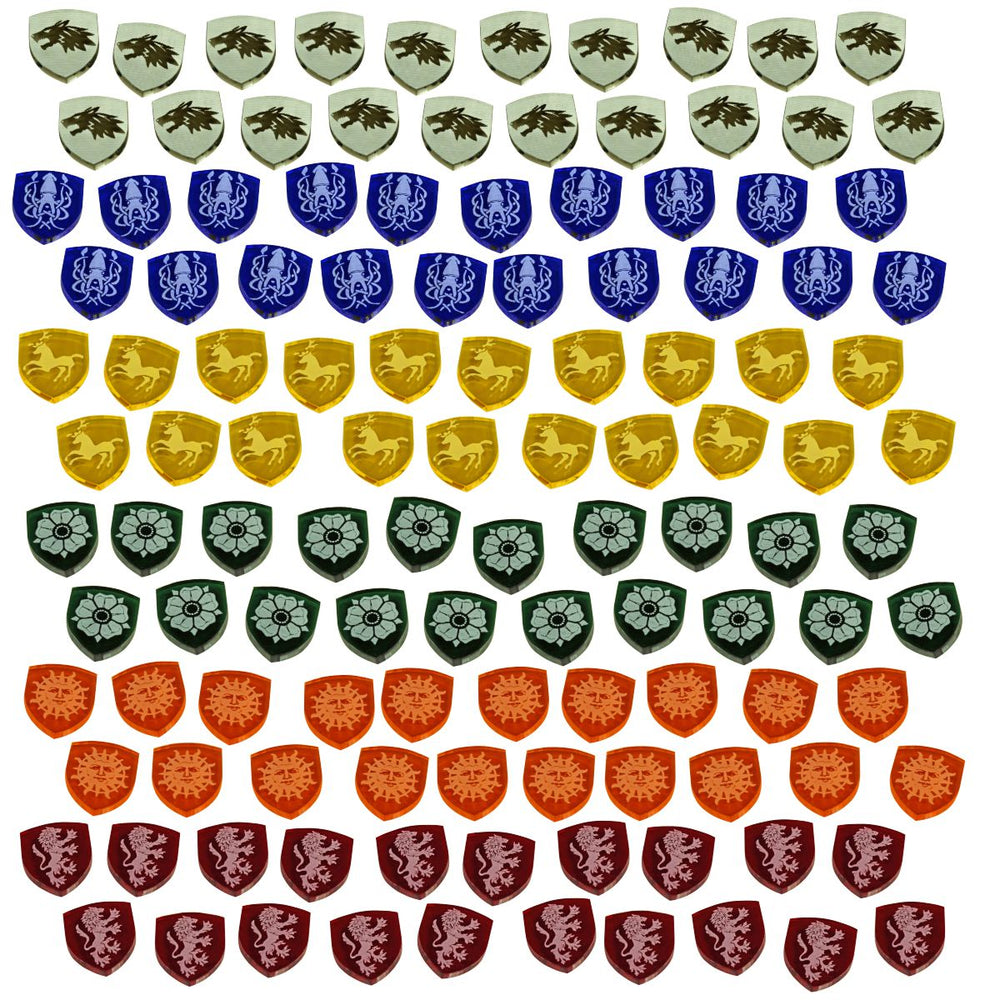 LITKO Power Tokens compatible with GoT Board Game, Multi-Color (120) - LITKO Game Accessories
