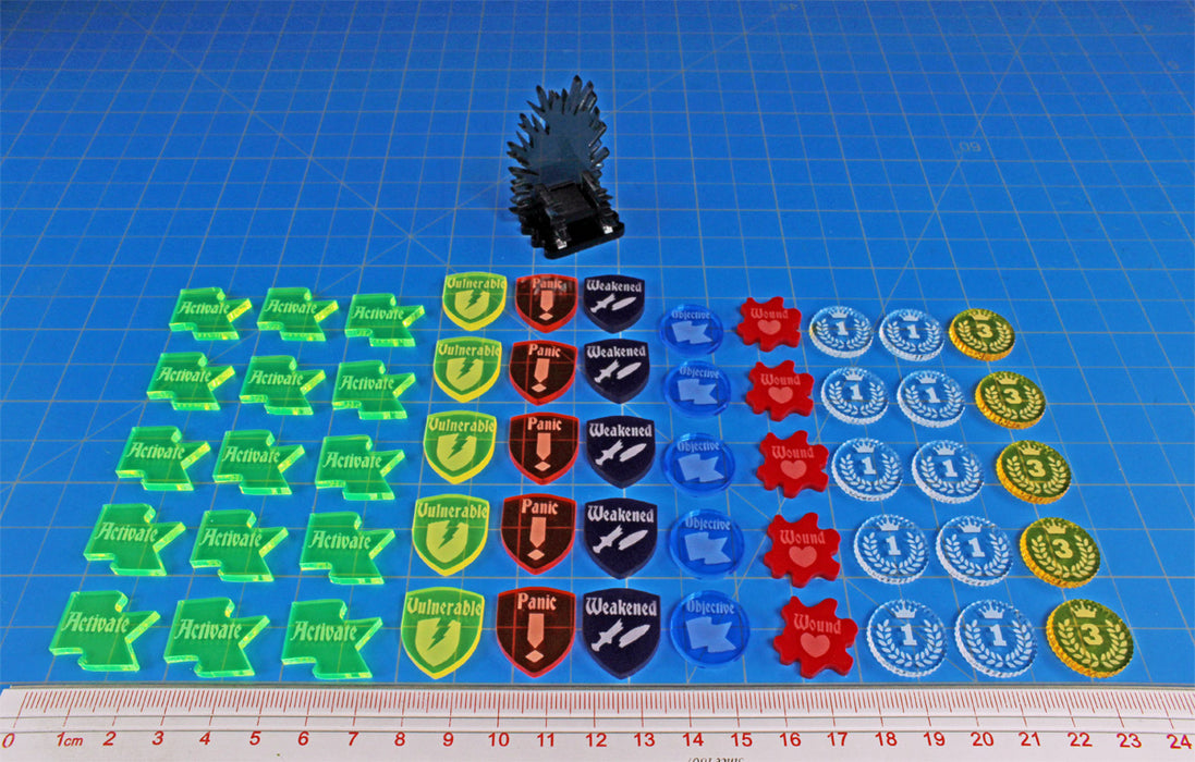LITKO Token Upgrade Set Compatible with Ice & Fire Tabletop Miniatures Game, Multi-Color (56) - LITKO Game Accessories