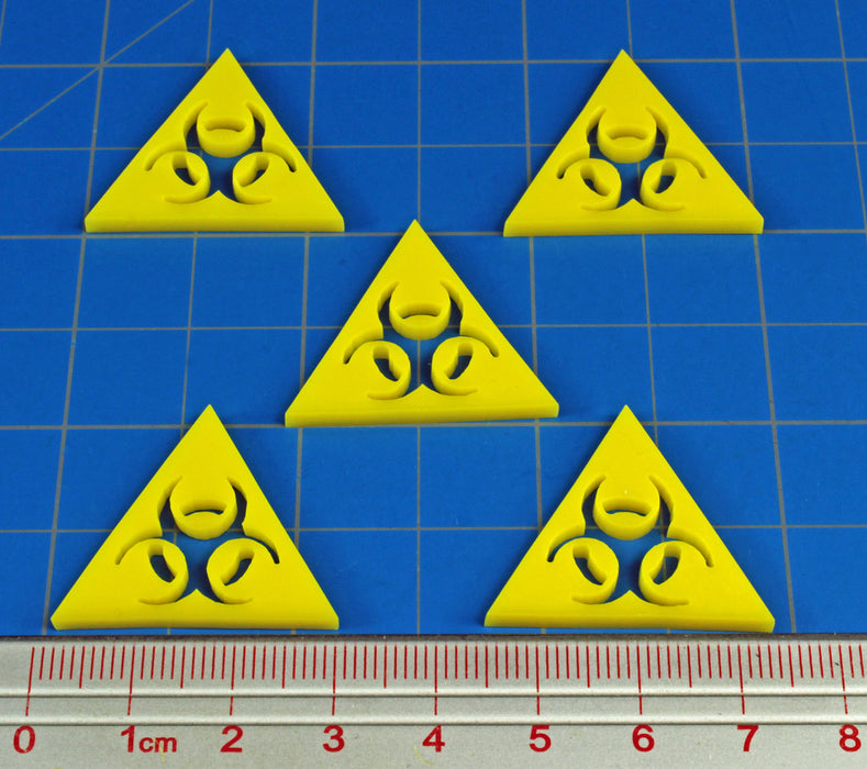 LITKO Large Bio hazard Token Set, Yellow (10) - LITKO Game Accessories